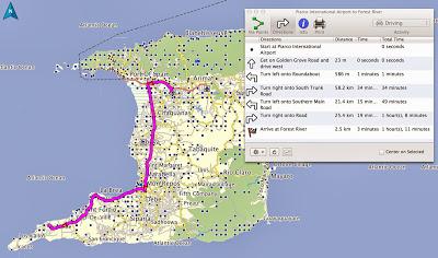 GPS, Map, Garmin, Trinidad, Aruba, Driving, Car Rental
