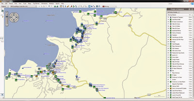 Garmin, Playas, Playas del Coco, Costa Rica, Hotels, Map