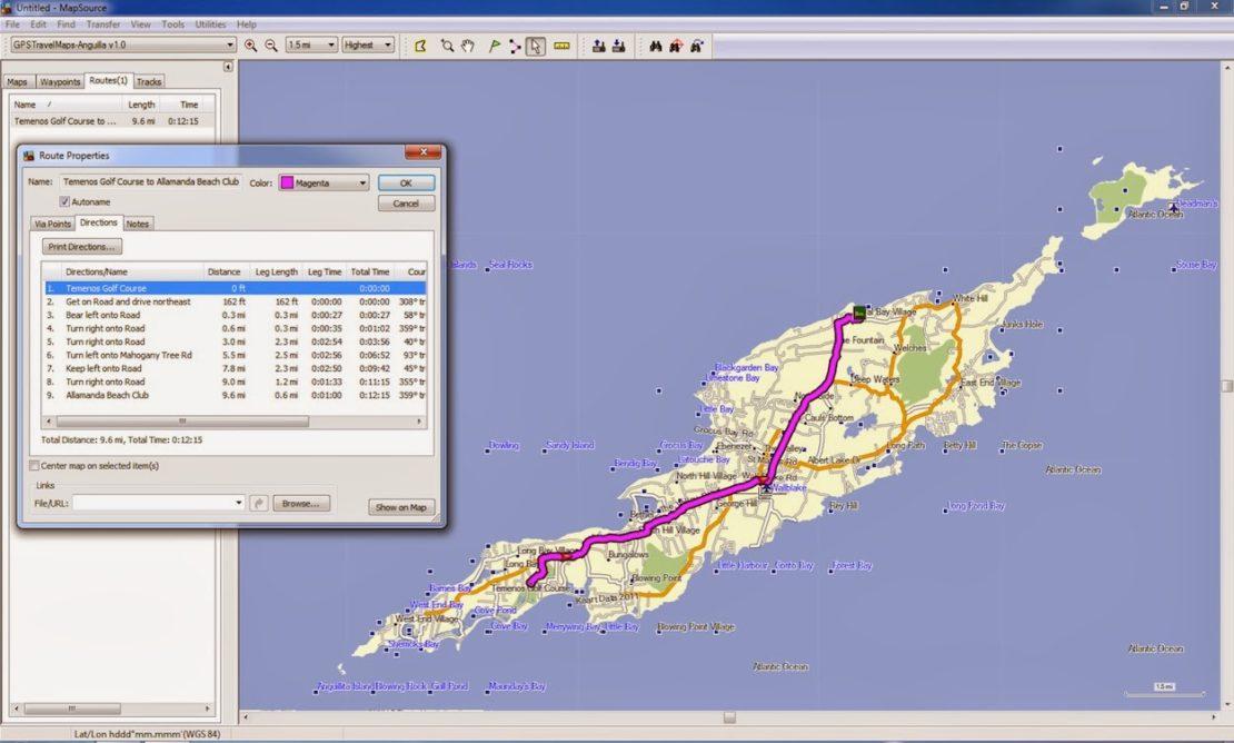 Anguilla, GPS, Garmin, Nuvi, Caribbean