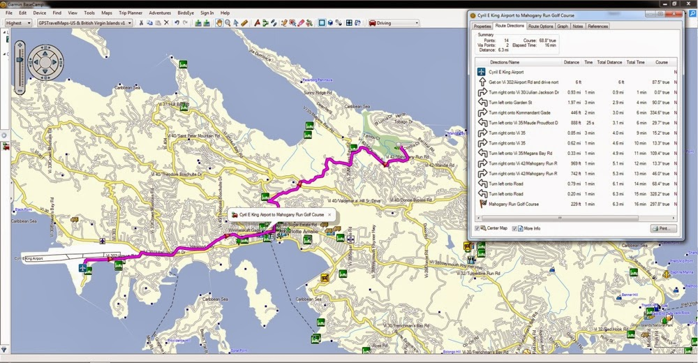 Map, Garmin, GPS, Nuvi, Virgin Islands