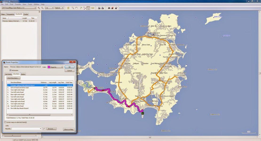 GPS, Nuvi, Caribbean, Saint Martin
